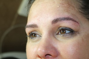 After eyebrow tattoo